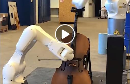 ROBOCELLO | VIDEO ako roboti hrajú na cello …